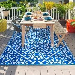 Outdoor Polyester Rug, Size: 6x4 Feet