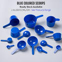 Blue Measuring Spoons Sizes From 1 ML/GM/CC TO 250 ML/GM/CC