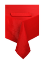 Beige Red White Gloria Table Cloth