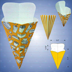 French Fries Cone Shapes Box