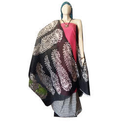 Party Wear Printed Office Wear Cotton Silk Dress Material
