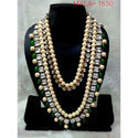 Party Green Pearl Necklace