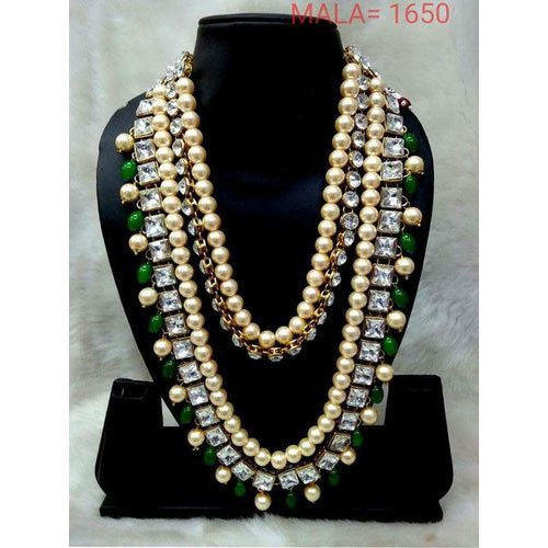 7a843456707 Party Green Pearl Necklace