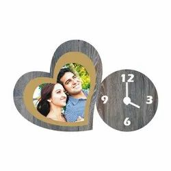 Analog Wooden GC 1 Photo Table Clock, Size: 7x5.5 Inches, Packaging Type: Box