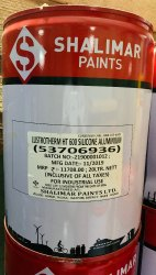 Shalimar Lustotherm HT 600 Aluminium Paint -Temp Upto 600 'C