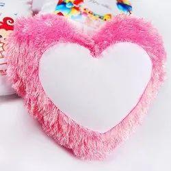 Sublimation Heart Fur Cushion