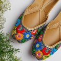 Women Leather Multi Colored Punjabi Jutti