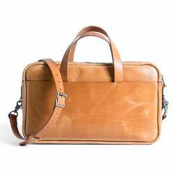 Brown Polished Leather Executive Bag