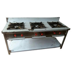 Three Burner Commercial Gas Stove