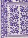 Purple Silk Cotton Woven Design Jamdani Saree