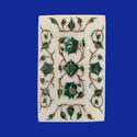 Marble Inlay Tray Lapis Marquetry