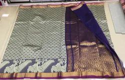 Blue Fancy Banarasi Saree