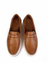 Men Casual Wear Brown Sports Loafers