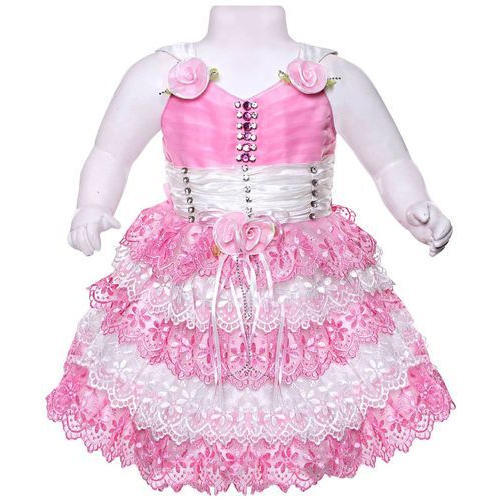 71a023c860ca Pink And White Velvet And Net Party Wear Baby Frock, Rs 145 /piece ...