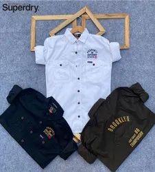 Silk Collar Neck Branded Shirts