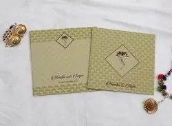 Hindu Marriage Invitation Card Design Ganesha Theme With Pull-Out Inserts