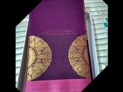 Powerloom Weaving Party Wear Cotton Silk Sarees, 6 m (with blouse piece)