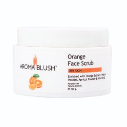 Aroma Blush Orange Face Scrub for Parlour, Pack Size: 500 Gm