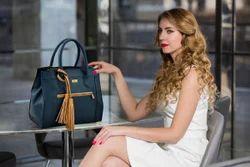 Beige Tussle Women Handbag