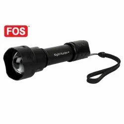 FOS Night Hunter Plus - 2000 Lumens, 10W (Rotating Head) Rechargeable Flashlight