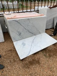 White RMS Indian Volakas Marble, Thickness: 5 To 25 mm