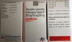 Zidolam N Tab (Lamivudine, Zidovudine and Nevirapine)