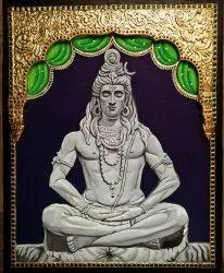 Shivan Tanjore Painting