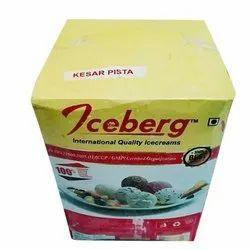 Kesar Pista Ice Cream, For Restaurant, Packaging Type: Box