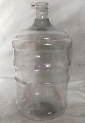 White & Blue Plastic Pet Water Jar, Capacity: 18 And 20 Liter