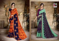 Pikaso Palak Vol-3 Series 1031-1043 Stylish Party Wear Georgette Saree