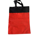 Red And Black Non Woven Loop Handle Plain Bag, Capacity: 1 Kg
