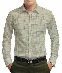 Men Slim Fit Siyaram Casual Shirt