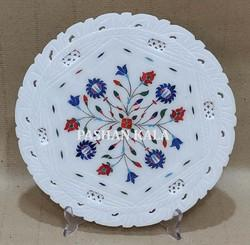 Marble Stone Plate with Inlay Art Work