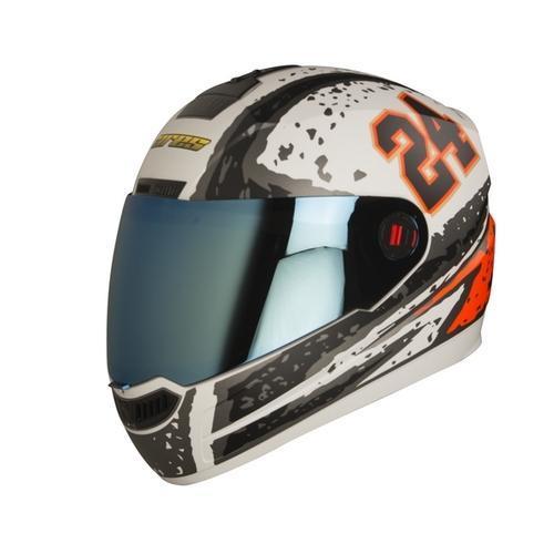 add80d8cb White With Black And Red Steelbird Sba-1 Air Rage Mat Helmet
