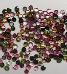 Natural Multi Tourmaline Smooth Round Flatback Cabochon Deal