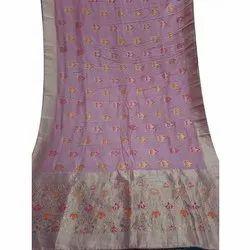 Chavi Creations Ladies Banarasi Silk Saree, 6.3 M (with Blouse Piece)
