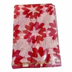 Casual Wear Batik Print Chanderi Saree, Machine wash, With Blouse Piece
