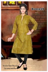 Printed Cotton Straight Kurti