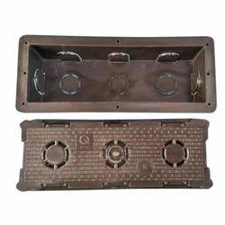 Rectangular 8HO Modular PVC Concealed Box, Dimension: Standard