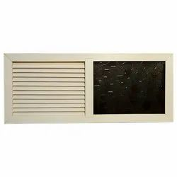 Polyline White Louver With Glass PVC Window, Thickness Of Glass: 5-7 Mm