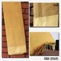 Revollt Brown Festive Wear Designer Saree, 6.3 M (with Blouse Piece)