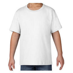 Polyester White Plain T-Shirt, Size: S-XL