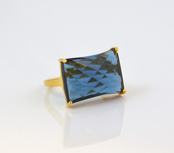 Indianna Jewellers Presents New Look Dashing Favourite Sapphire Hydro London Gold Plated Ring