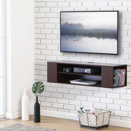 Tv Stand Simple Designs : Brand woodangle wall mounted tv cabinet in simple design rs 7000