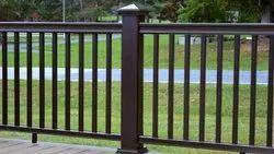 Black 2 Feet Galvanised Iron Deck Railing