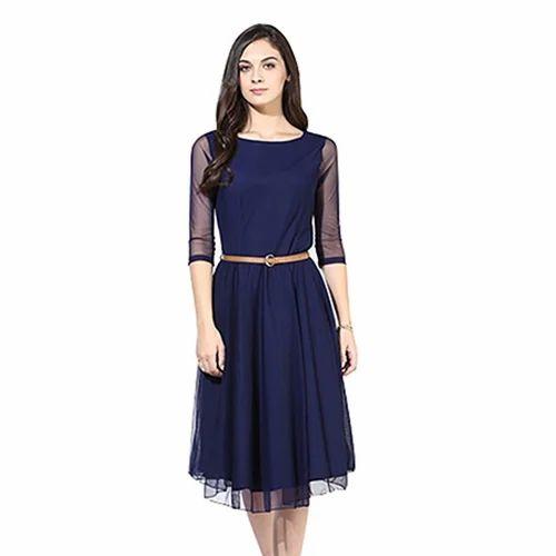 3690e5a3da4 Western Wear Georgette Knee Length Dress