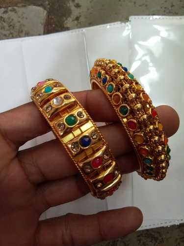 Artificial Brass Gold Playted Bombay Bangles