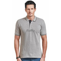 Men's Cotton Stylish Plain T Shirt, Size: S to XL