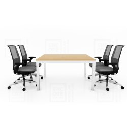 Encore Modular Furniture Pre-Laminated Particle Board Wooden Meeting Table, Warranty: 1 Year