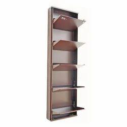 Powder Coated Iron 5 Door Shoe Rack Size Standard